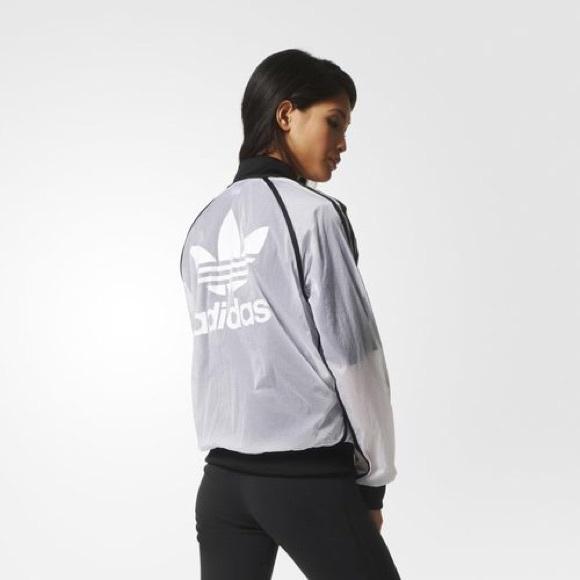 7b46d1e16d22 adidas Jackets   Blazers - Adidas x Rita Ora Transparent Windbreaker Bomber